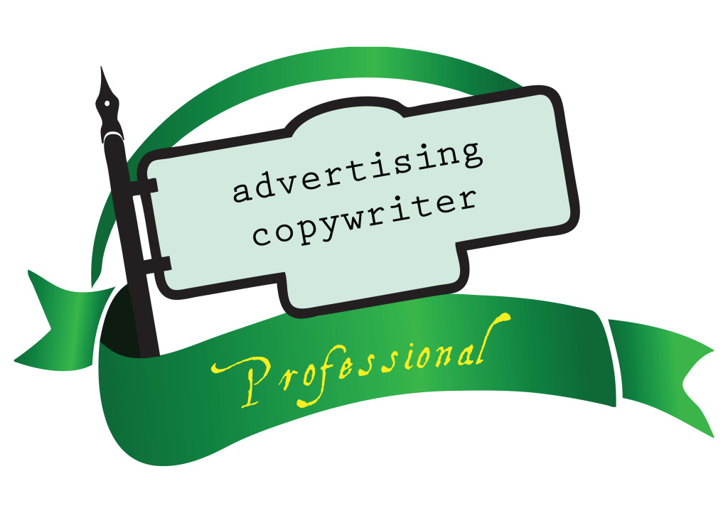 Banner advertising copywriter for the profession. Vector illustration.